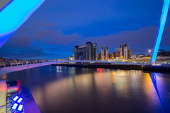Gateshead Quay (Gary Pattison) Tags: city bridge reflection art night river newcastle cityscape dusk wideangle baltic tyne millenniumbridge quay gateshead newcastleupontyne quayside balticmill