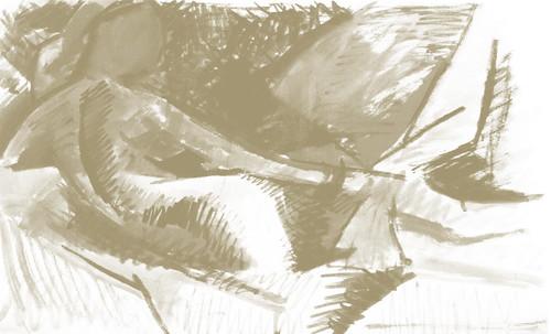"La Gran Odalisca, argumentación de Jean Auguste Ingres (1814), sinapsis de Auguste Renoir (1890), Pablo Picasso (1907), Amadeo Modigliani (1917). • <a style=""font-size:0.8em;"" href=""http://www.flickr.com/photos/30735181@N00/8805011339/"" target=""_blank"">View on Flickr</a>"