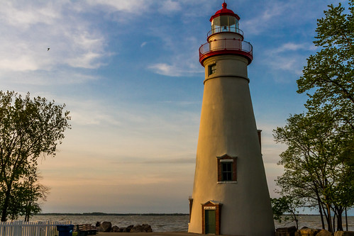 Bathed in a Sunset Light - Marblehead Lighthouse - Marblehead, Ohio