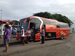 Sunset (bhaskarroo) Tags: orange sun bus set saturday suva hino legacy hc543