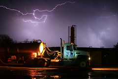 Firestone (WLI_Services) Tags: oklahoma water field weather salt oil firestone lightning transfer trucking oilfield saltwater