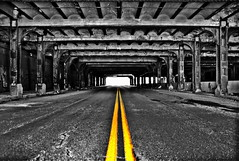 Tunnel that runs under the tracks at Michigan Central Station (JayCass84) Tags: street camera old urban blackandwhite black beautiful lines yellow vanishingpoint blackwhite flickr decay michigan urbandecay awesome detroit streetphotography tunnel line explore tunnels vanishing streetview urbanstreetphotography yellowlines urbanphotography 313 vanish motorcity michigancentralstation instagram instagramapp