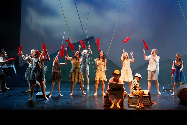 "The Youth Opera Company perform Gone Fishing in the Linbury Studio Theatre.  <a href=""http://www.roh.org.uk"" rel=""nofollow"">www.roh.org.uk</a>  Photo by  Sim Canetty-Clarke"