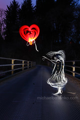 Illuminating Banksy's The Balloon Girl - Michael Bosanko (michael_bosanko) Tags: lightpainting michael lightgraffiti lightart michaelbosanko bosanko wwwmichaelbosankocom