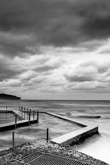 South Curl Curl - Moody (sachman75) Tags: longexposure blackandwhite bw beach water pool clouds bath waves sydney australia nsw newsouthwales northernbeaches canon1740mmf4 oceanbaths southcurlcurl canon5dmarkii singhrayreversendgrad3stops