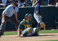 Anthony Recker sit on dirt (jkstrapme 2) Tags: hot male jock baseball bulge