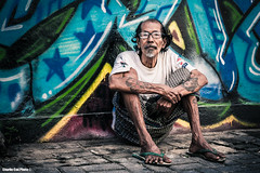 Wisdom (Charlie Coe Photo) Tags: bali ink canon indonesia 50mm awesome streetphotography streetlife oldschool adventure og barefoot knowledge 5d wisdom humble gettyimages legian inked 2566 australianphotographers inkedup tattooworld travelindonesia charliecoephoto viewfrommycamera
