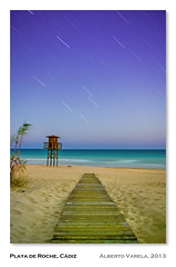 Playa de Roche (artberri) Tags: longexposure espaa beach night stars noche spain playa cdiz hondartza largaexposicin
