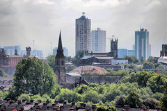 Salford Skyline 2011 HDR (kersalflats) Tags: city history church skyline shopping manchester stgeorges spire flats lane whit local salford hdr precinct 2011 kersal