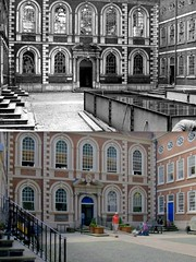 Bluecoat Chambers, 1940s and 2013 (Keithjones84) Tags: liverpool merseyside history thenandnow oldliverpool rephotography