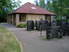 Split Rock Lighthouse State Park carry-in carts and bathrooms