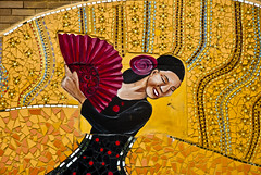 Senorita (MBA-Photography) Tags: chicago color art fan mural dancer uptown flamenco chasepark ward47 httpwwwmbaphotographycom mbaphotography