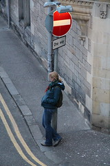 WHAT SHE WAITING FOR? (M7CCF STYLE! 2014) Tags: sign st lady canon eos scotland waiting andrews fife standrews 650d m7ccf