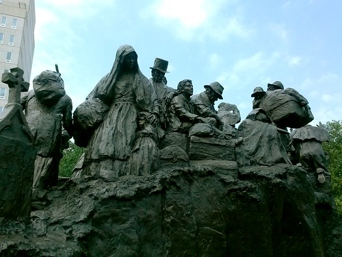 Irish Memorial Sculpture, east side detail