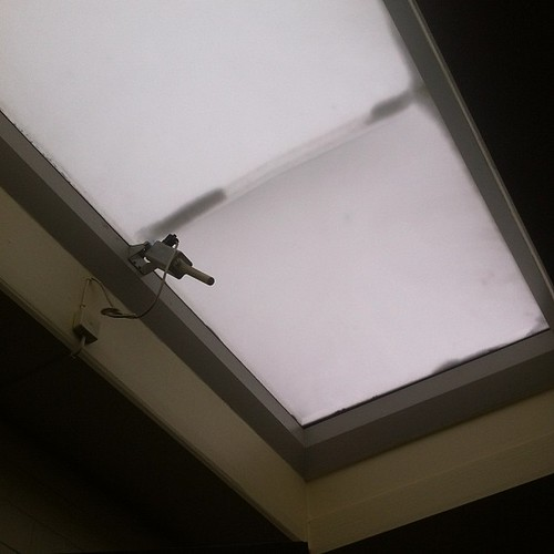 Motorised skylight backstage that looks like...