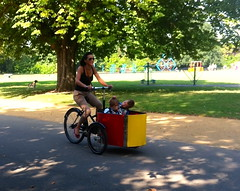 Great cycle (♔ Georgie R) Tags: london dulwich cargotrike