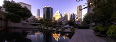Beautiful light in downtown Vancouver 2013 (Gord McKenna) Tags: panorama canada art vancouver square hotel arthur downtown gallery bc stitch pano engineering columbia september robson british courthouse gord sept inc fairmont erickson mckenna bgc gordmckenna