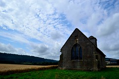 Langley Chapel, Shropshire (bodythongs) Tags: england sky cloud english heritage church beauty field countryside wooden interestingness interesting nikon shropshire box wheat country gothic chapel tudor best most crop restored restoration prairie elizabethan idyll favourite popular langley pews hamlet anglican protestant acton viewed burnell protestantism jacobean jacobethan gradeilisted d5100 bodythongs