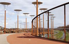 Bridge and lamps (leerjp) Tags: bridge holland netherlands architecture nederland zoetermeer brug architectuur burgemeesterwaaijerbrug