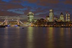 Crepuscolo blu / Blue dusk (Tower Bridge, London, England) (AndreaPucci) Tags: uk london towerbridge londra regnounito cityoflondon canonef24105mmf4lis canoneos60 andreapucci
