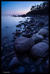 Rocks By the Sea (pahahl) Tags: sea finland landscape twilight rocks dusk april emäsalo varlaxludden