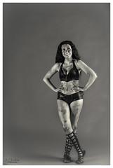 Dressed Down Spartan (AJ Charlton Photography) Tags: uk bw white house black female studio aj greek photography kent coach nikon amy cosplay down d750 warrior alias 300 dressed spartan ajc charlton the