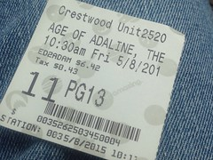 age of adaline (timp37) Tags: movie illinois may ticket age stub crestwood adaline 2015
