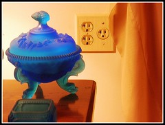Candy Dish, Wall Socket, And Drape - Photo by STEVEN CHATEAUNEUF With Extra  Sharpness Added - May 11, 2015 - Extra Contrast Was Added With Aviary On May 12, 2015 (snc145) Tags: stilllife fun photo fineart drape soe candydish wallsocket thisphotorocks mostbeautifulpicture flickrestrellas deppressionglass flickrunitedaward vividstriking stevenchateauneuf specialartisticphotography