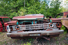 Barren Grille (Still The Oldie) Tags: rust rustycars autowreckers abandonedcars abandonedvehicles abandonedautomobiles mcleansautowreckers