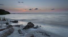 Soft Sunrise (maryleesampson) Tags: blue water sunrise dawn rocks pretty calm softwater
