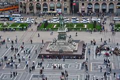 Piazza del Duomo (LindbloomPhoto) Tags: italy milan rooftop church statue cathedral milano piazza duomo duomodimilano vittorioemanuelii