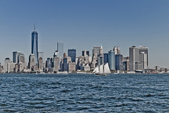 New York Harbor Sail (SamuelWalters74) Tags: newyorkcity newyork unitedstates manhattan worldtradecenter financialdistrict brooklynbridge manhattanbridge batteryparkcity worldfinancialcenter nycskyline newyorkharbor 7worldtradecenter freedomtower 1worldtradecenter 1wtc brookfieldplace oneworldtradecenter 4worldtradecenter