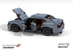 Dodge Charger SRT Hellcat (2015) (lego911) Tags: auto usa sports car america sedan model lego render anger management dodge chrysler saloon challenge v8 charger 91 cad lugnuts hellcat povray lx srt moc ldd 2015 zf angermanagement miniland lego911