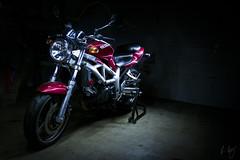 ESVEE (Kevdv) Tags: 2001 light red painting suzuki sv650