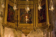 Side Altar, Church of the Holy Sepulchre (marylea) Tags: history architecture israel ancient triptych interior jerusalem christian altar holy historical churchoftheholysepulchre 2015 may11