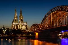 Kln (alfredo.baginski) Tags: kln colone nacht night hohenzollern brcke bridge dom cathedral
