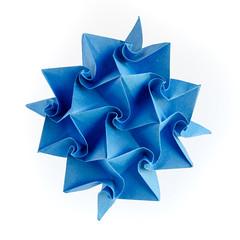 Liqueur #origami #tessellation (_Ekaterina) Tags: origami tessellation paper paperfolding tant blue curls curved ekaterinalukasheva