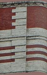 Bricks of New York (TheMachineStops) Tags: 2016 outdoor nyc manhattan newyorkcity red white uws upperwestside architecturaldetails architecture brick brickwork abstract