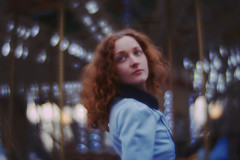 Dasha (visual_sigh) Tags: redhead ginger blue daguerreotype achromat lomography melancholia melancholicones carrousel bokeh curlyhair blueeyes artist dreamygirl muse