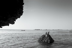 Fishing (Arun Veerappan) Tags: alamparai india fishing fun kids backwaters bnw blackandwhite ar arun arunveer arunveerappan emphoka 121clicks uclickframe travel travelphotography people ngc nationalgeographic nationalgeotraveller natgeo