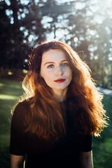 Olga (Chicainvisible) Tags: girl model madrid spain headshot redhead red hair sunset park woman parque del oeste beautiful blue eyes blueeyes pretty fashion