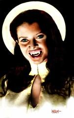 Hammer Glamor! (Jonathan C. Aguirre) Tags: hammerfilms drinkingblood sexyvampires sexyfemalevampires vampires givingblood blooddraws hotgirlsmoviesthe1970shorrormoves