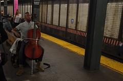 Underground Interlude (MPnormaleye) Tags: subway underground railroad train tracks nyc manhattan city performer busker utata urban musician music cello