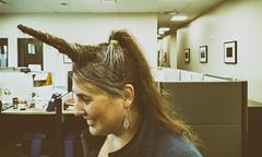 20161019POTD (Plonq) Tags: 2016yip hair horn unicorn office people woman