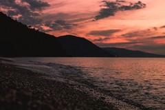 Summer wonderland (Davide Carovana) Tags: sunset sundown sicily italy beach sea wave red memories