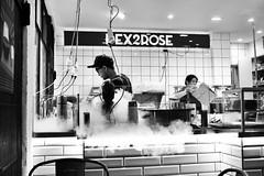 Australia - Melbourne - Dex2rose (st3000) Tags: australia melbourne downtown nitrogen gelato coffeeshop coffee hipster blackandwhite bw icecream ice dex2rose steam cold food tiles lab fuji xpro1 xf27 indoor