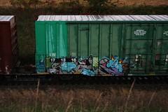 Rule (quiet-silence) Tags: graffiti graff freight fr8 train railroad railcar art rule tbk boxcar lw lw171316
