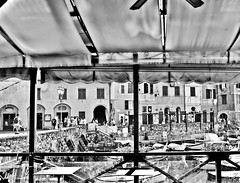 """Life in Portofino"" (giannipaoloziliani) Tags: landscape panorama movimento facciate case houses facades windows finestre shops negozi dettagli details place piazza lights luci shadows ombre streetdetails focalpoints perspectives prospettiva flickr paesedimare countryofsea country paese liguria pietre stones tenda streetphotography streetlife life streetphoto people persone terrazzo terrace nikond3200 nikon nikoncamera turismo view vista banchina pier mare sea turistico turisti tourists portofino monochrome monocromatico biancoenero italia blackandwhite italy"