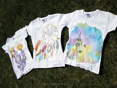 Hand-painted t-shirts (colorinspirit) Tags: handpainted handmade illustration custom illustrator artist dreamcatcher cacti cactus flowers feathers tipi tepee festival artevent bohemian style clothes