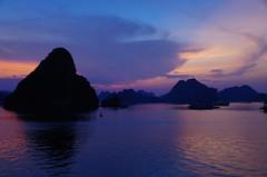 Halong Bay just after sunset (jessica.fenton23) Tags: night evening sunset halong bay nature vietnam